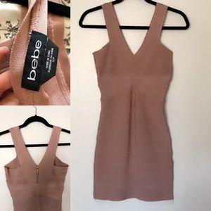 Blush Pink Bebe Bandage Dress